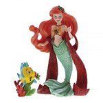 Disney Showcase Haute-Couture Christmas Ariel with Flounder Figurine