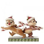 Disney Traditions Candy Cane Caper Chip 'n' Dale Figurine