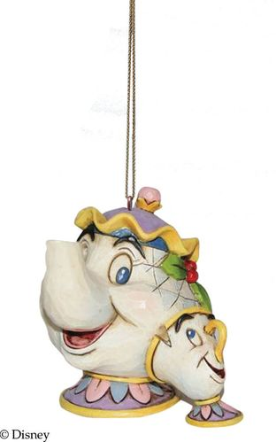 Disney Traditions Mrs Potts & Chip Christmas Tree Hanging Ornament