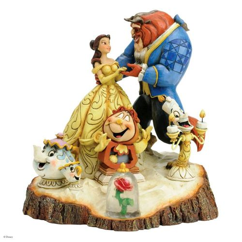 Disney Traditions Tale as Old as Time Carved by Heart Beauty & The Beast Figurine