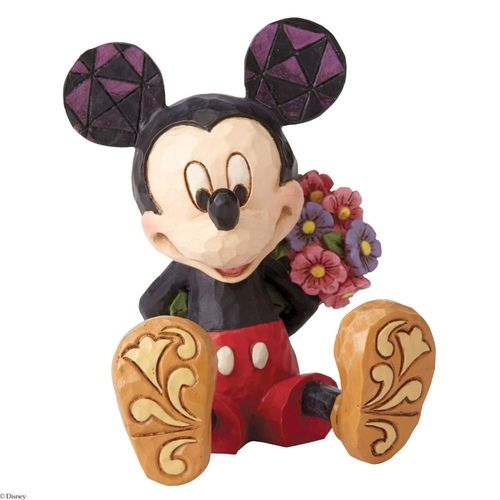 Disney Traditions Mickey Mouse with Flowers Mini Figurine