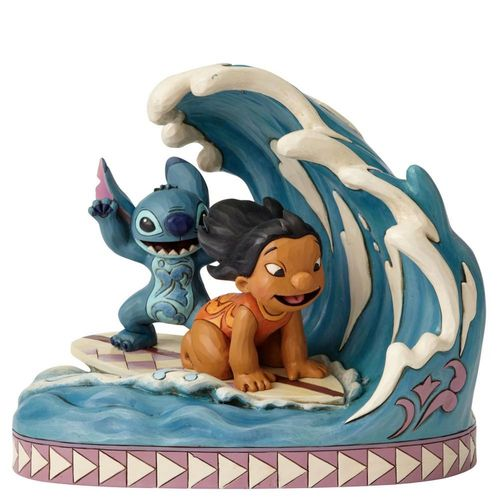 Disney Traditions Catch The Wave Lilo & Stitch 15th Anniversary Piece
