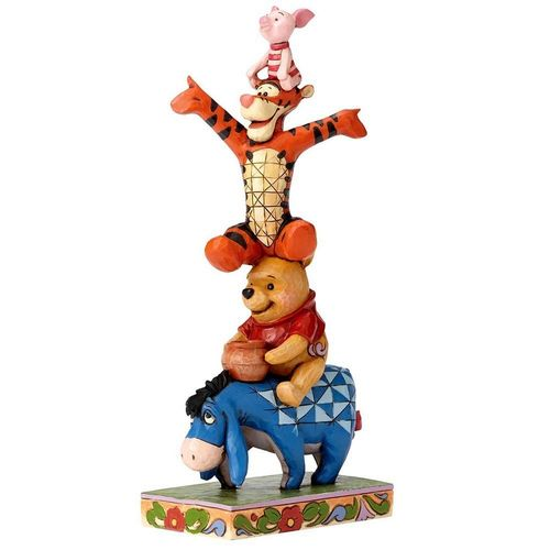 Disney Traditions Built By Friendship Eeyore, Winnie, Tigger & Piglet Figurine