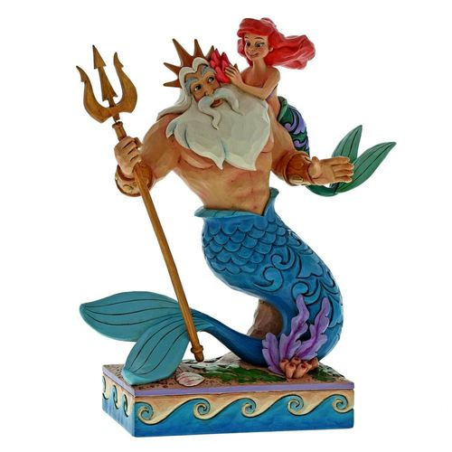 Disney Traditions Daddy's Little Princess Ariel & King Triton Figurine