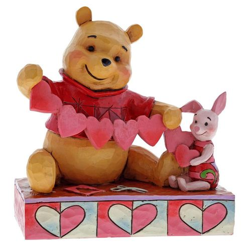 Disney Traditions Handmade Valentines Winnie & Piglet Figurine