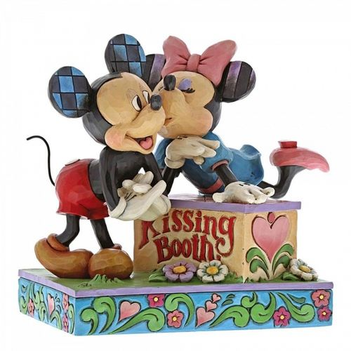 Disney Traditions Kissing Booth Mickey & Minnie Mouse Figurine