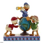 Disney Traditions Navigating Nephews Huey, Dewie and Louie Figurine