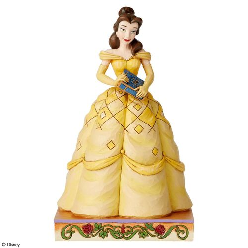 Disney Traditions Book-Smart Beauty Belle Princess Passion Figurine