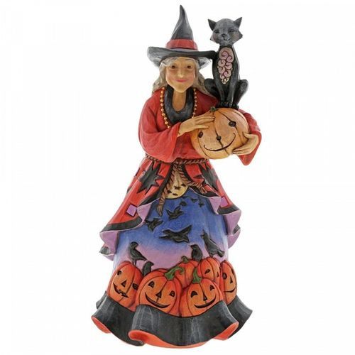 Jim Shore Heartwood Creek Magic Grows Wherever She Goes Witch & Cat Figurine
