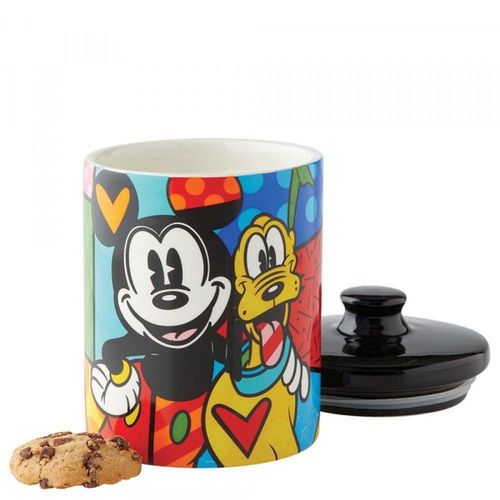 Disney Britto Mickey and Pluto Canister Cookie Jar Small