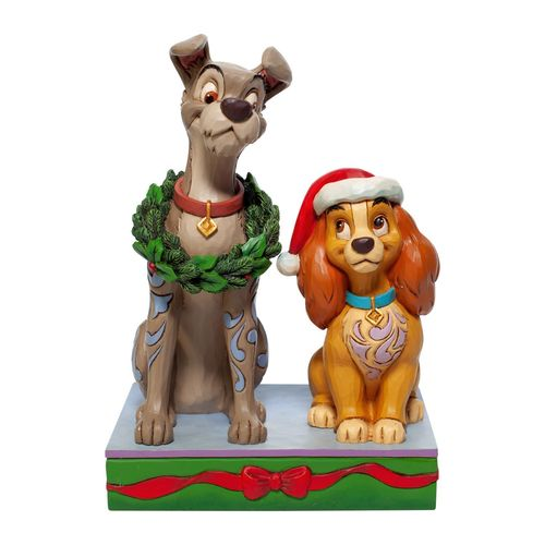 Disney Traditions Decked out Dogs Lady and the Tramp Figurine