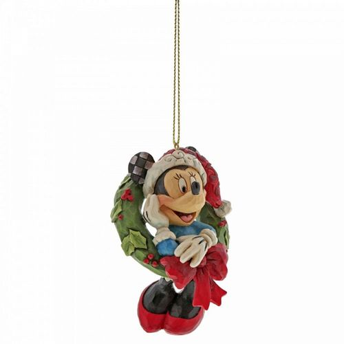 Disney Traditions Minnie Mouse Wreath Hanging Ornament