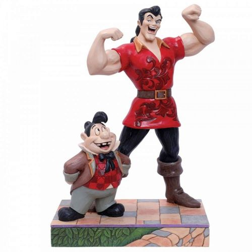 Disney Traditions Muscle-Bound Menace Gaston and Lefou Figurine