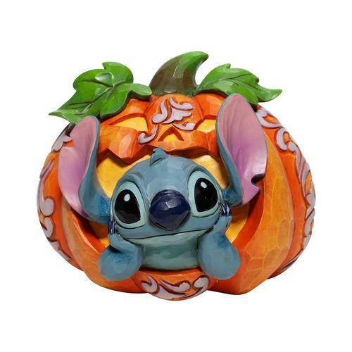 Disney Traditions Stitch O'Lantern Stitch inside Pumpkin Figurine