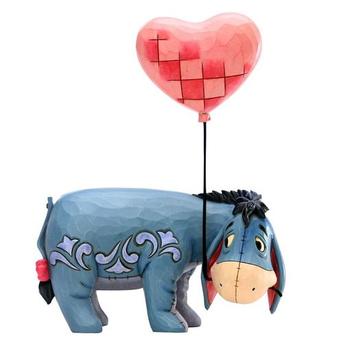 Disney Traditions Love Floats Eeyore with Heart Balloon Figurine