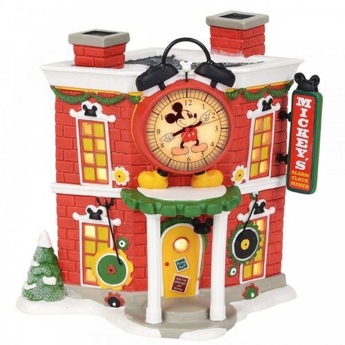 Disney Village By D56 Mickey's Alarm Clock Shop