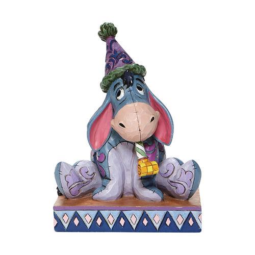Disney Traditions Birthday Blues Eeyore with Birthday Hat Figurine