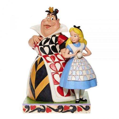 Disney Traditions Chaos and Curiousity Alice and the Queen of Hearts Figurine