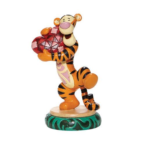 Disney Traditions Heartfelt Hug Tigger Holding Heart Figurine