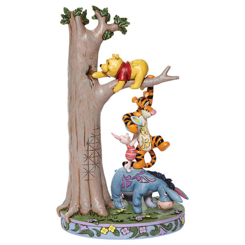 Disney Traditions Hundred Acre Caper Tree with Pooh and Friends Figurine