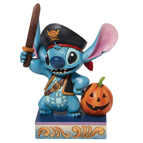 Disney Traditions Lovable Buccaneer Stitch as a Pirate Figurine