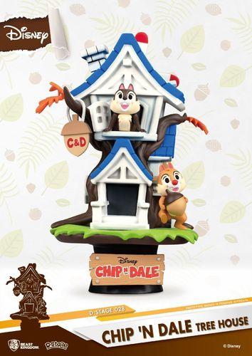 Beast Kingdom Disney Summer Series D-Stage PVC Diorama Chip 'n Dale Tree House 16 cm