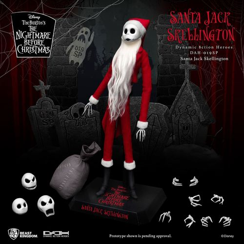 Beast Kingdom Nightmare before Christmas Dynamic 8ction Heroes Action Figure Santa Jack Skellington