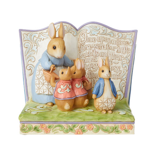 Beatrix Potter By Jim Shore There Were Four Little Rabbits Peter Rabbit Storybook Figurine